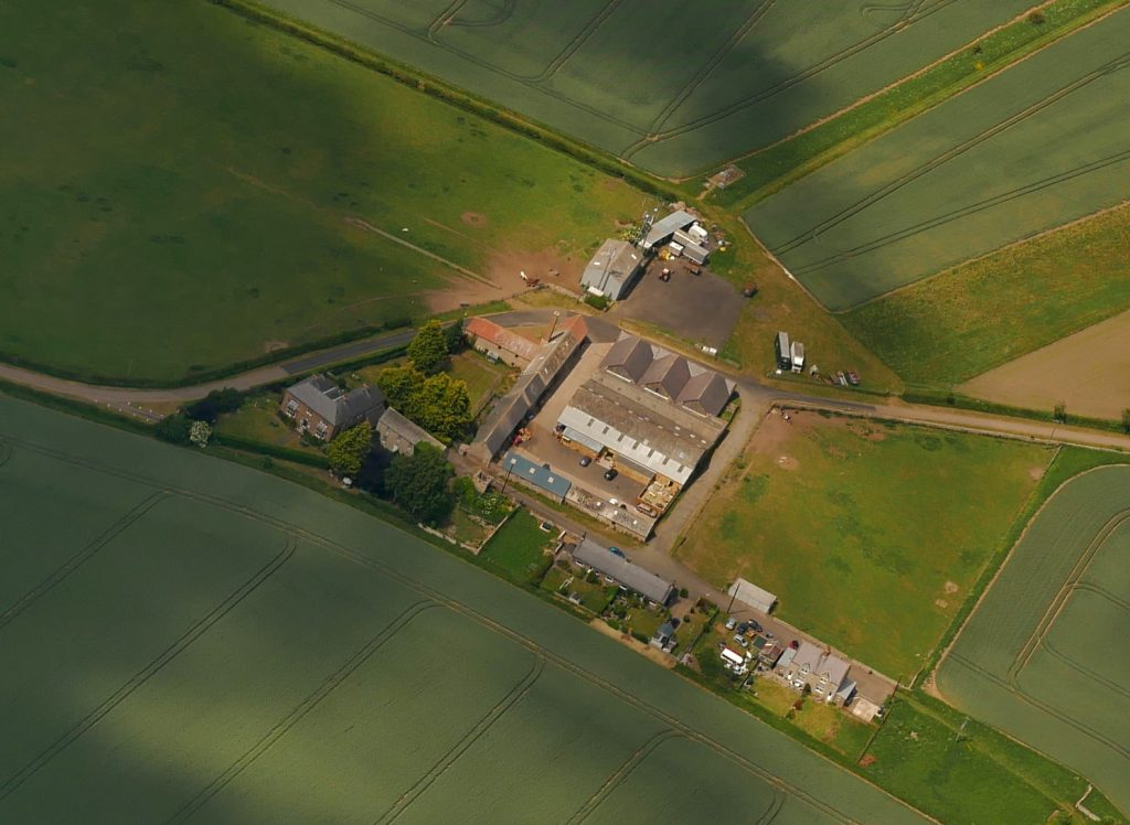 View from a glider of Hay Farm